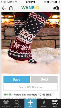 UOI Boutique leg warmers