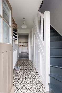 More floor tiles give the rear entrance to the house a wow factor and are practical to keep clean with two dogs and two children!