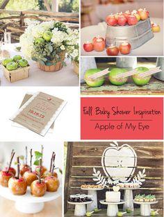 Fall Baby Showers: Apple of My Eye Baby Shower Theme | RegistryFinder.com