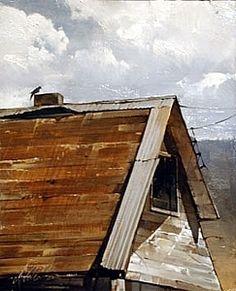 "2009, Roof Line by Joseph Alleman Oil ~ 10"" x 8"""