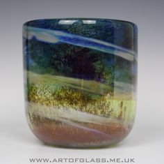 Large Isle of Wight Studio Glass Aurene bell vase, designed by Michael Harris