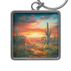 Shop Painting Of A Colorful Desert Sunset Painting Keychain created by CalmCards. Personalize it with photos & text or purchase as is! Desert Sunset, Charm Rings, Your Image, Silver Color, Deserts, Shit Happens, Abstract, Arizona, Prints