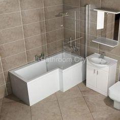 L Shape Shower Bath Right Handed Free Shower Valve Bathroom Sale, Bathroom Makeover, Shower Bath, Bathroom Layout, Bathroom, Bathroom Closet, Bedroom Closet Storage, Simple Closet, Closet Layout