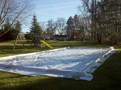 Ice Rink Liner Install Home Daycare, Ice Rink, Winter Project, Outdoor Tables, Outdoor Decor, Yard, Outdoor Furniture, Projects, Home Decor