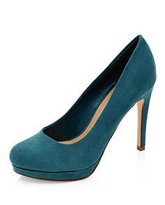 Jade Green Platform Court Shoes  | New Look