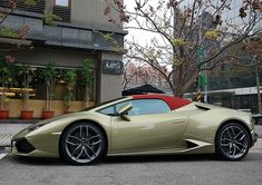 Lamborghini Huracan Spider interesting colour combo