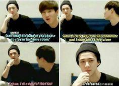 Sehun is still a baby. Baby Oh Sehun :-) Sehun, Exo K, Exo Facts, Xiuchen, Exo Ot12, Exo Memes, Vixx, Kpop Groups, Rapper