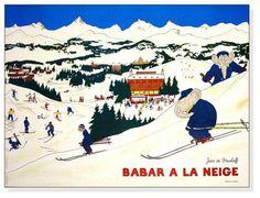 ぞうのババール スキー場(ブリュノフ)【新品アートポスター】 - ヤフオク!