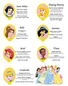 Crafty Party - Princesses fun royal menu