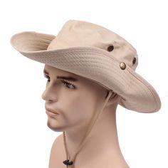 e42bd33b444 Mens Cotton Wide Brim Bucket Hat Summer Outdoor Sunscreen Visor Fisherman Hats  Hats Online