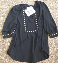 Moni Stud Detailed 3/4 Sleeve Blouse  - Still like this blouse - prints and solids are really cute https://www.stitchfix.com/referral/3283633