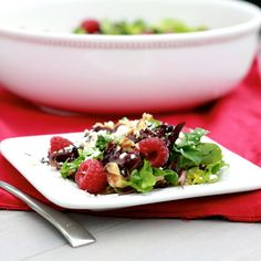 Salad with a little fruit sweetness! Yummy.