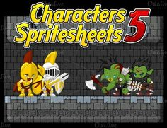 Check out Characters Spritesheet 5 by pzUH on Creative Market