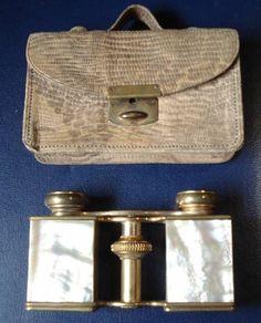 Jumelles de théatre FLAMMARION en nacre et laiton Vintage