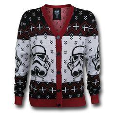 Star Wars Stormtrooper Christmas Sweater Cardigan