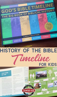 History of the Bible Timeline for Kids Want a history of the Bible timeline for your kids? You'll love this Bible history timeline chart -- the perfect book for every home library. Bible Timeline, History Timeline, Best Children Books, Books For Boys, Book Log, Prayer For Family, Spiritual Disciplines, Kids Calendar, Science Books