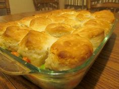 Biscuit-topped Chicken Pot Pie: Reader recreates magazines twist on a classic recipe.
