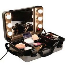 Vanity Suitcase With Lights Beauty Makeup Artist Compact Aluminium Case  Makeup Tips