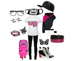 2NE1 outfit! Yes! Just change the color pink to blue then I will wear it