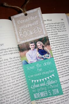 Save the Date Bookmarks Custom by JustChuggingAlong $20