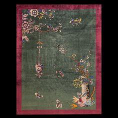 #greenrug #antiquerugstudio #chinese #artdeco #RADR #nyc  RADR-antiquerugstudio-Chinese-rug Stock Id: #23070  General Rug Type:       Chinese   Specific Rug Type:       Chinese - Art Deco   Circa: 1920   Color: Green   Origin: China   Width: 9' 2'' ( 279.4 cm )   Length: 11' 6'' ( 350.5 cm )
