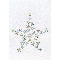 Form-A-Lines Christmas Star C17-1 Pattern: The Christmas Star C17-1 design comes with a numbered diagram, a pricking pattern and step-by-step instructions for the stitching. It is delivered by download to your computer. Pattern size 152 x 104 mm (6 x 4 inches). Price: £1.00 British currency