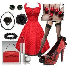 Rockabilly Red & Black! by staci