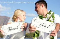 "Is there any better way to say ""Thank you""? islandweddingmemories.com #mauiweddings #thankyou #mahalo #olowalu #olowaluplantationhome"