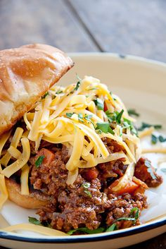 Beef & Vegetable Loaded Sloppy Joe's !!!