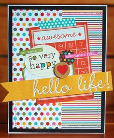 Hello Life! Card *Simple Stories Sn@p* - Two Peas in a Bucket