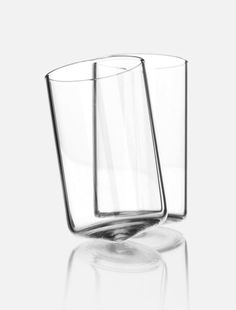Dizzy glasses by Sebastian Bergne. Topsy turvy, spinning shot glasses.  #SebastianBergne #glassware