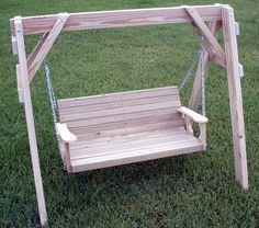 Swing seat wooden garden swing seat with wood frame 2 for Bench swing frame plans
