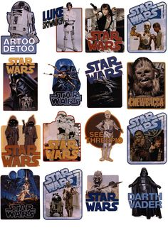 Vintage Star Wars iron-on transfers, from back in the when we had Iron-ons.