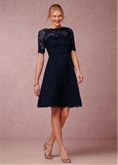 Elegant Lace A-line Knee Length Mother of the Bride Dresses