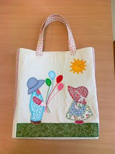 Tote Bags Handmade, Diy Tote Bag, Baby Applique, Art And Hobby, Bag Pattern Free, Patchwork Bags, Hand Embroidery Designs, Cute Bags, Quilt Making