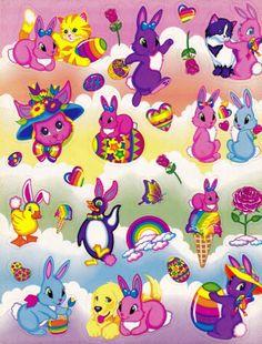 Vintage Lisa Frank Stickers Easter S231 | eBay