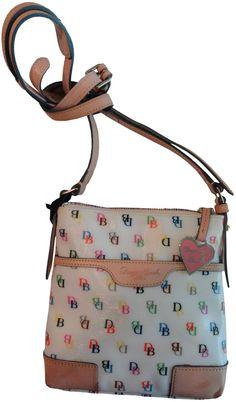 Amazon.com: Women's Dooney and Bourke Purse Handbag Letter Carrier X-Body White: Shoes