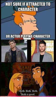 Both. Jensen  Dean. And Misha  Castiel.