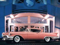 Thie Cadillac Eldorado has a whole lot of pinkness.