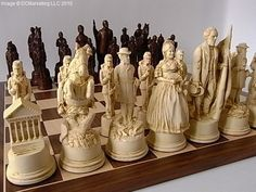 Civil War chess set, which civil war does it indicate? #chess #chessgeeks