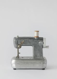 A hardcore silver vintage sewing machine--we'd definitely keep this beauty out and on display. Via Stylepark on Tumblr.