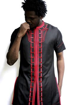 Traditional African Men dress with embroidery | Kipfashion
