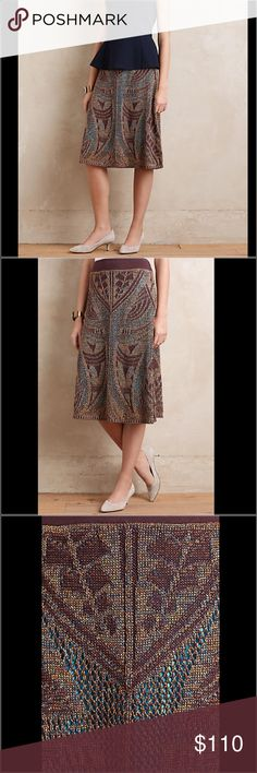 Anthropologie Midi Skirt Lumi Midi Sweater Skirt by Cecilia Prado. A designer with the soul of an artist, Brazilian Cecilia Prado is known for her unorthodox knitting techniques. Her distinct point of view results in stunning intricacy, daring pattern and robust color; each hand-knit piece is truly a work of art. Shimmered viscose, acrylic, polyester sweaterknit; polyester lining A-line silhouette Pull-on styling Made in Brazil Anthropologie Skirts A-Line or Full