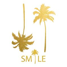 """3"""" x 4"""" metallic gold palms tattoo! Perfect for a day at the beat or pool!"""