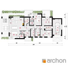 Dom w peperomiach 3 (G) House Plans, Floor Plans, Houses, How To Plan, Home Plans, Homes, House Floor Plans, House, Computer Case