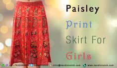 Printed paisley Rajasthani skirts