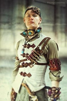 I'm not generally crazy about men's steampunk fashion but I like this! #PunkFashion
