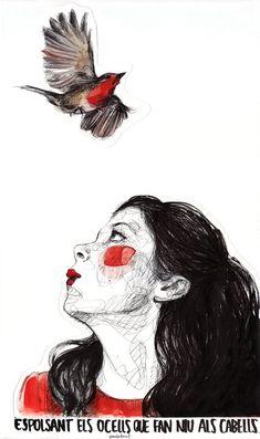 Cafe Inevitable Robin by Paula Bonet Paula Bonet, Aesthetic Drawing, Body Drawing, Portraits, Woman Painting, Photo Illustration, Drawing Journal, New Art, Fantasy Art