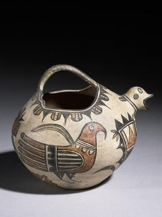 A San Ildefonso polychrome bird jar, attributed to Martina Vigil and Florentino Montoya