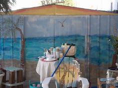 Beach Painted Metal Shed